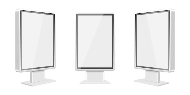 Lichtbak sjabloon illustratie op witte achtergrond