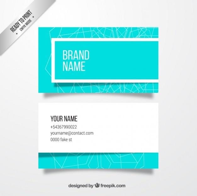 Lichtblauw adreskaartje