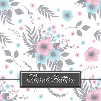 Lichtblauw bloemen naadloos patroon als achtergrond