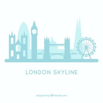 Lichtblauw londen skylineontwerp