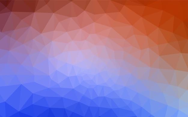 Lichtblauw rood vector abstract mozaïekpatroon.