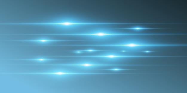 Lichtblauw speciaal effect. gloeiende mooie heldere lijnen op een donkere achtergrond.