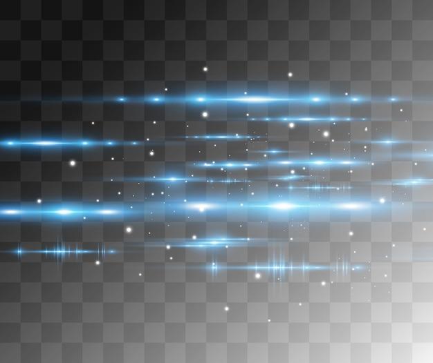Lichtblauw speciaal effect gloeiende mooie heldere lijnen