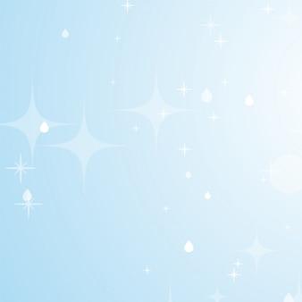Lichtblauwe abstracte achtergrond met sterren en bokeh.