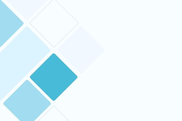 Lichtblauwe kubieke lege achtergrondvector voor zaken