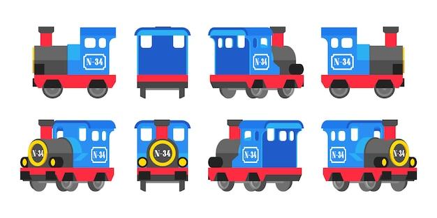 Lichtblauwe speelgoedlocomotief