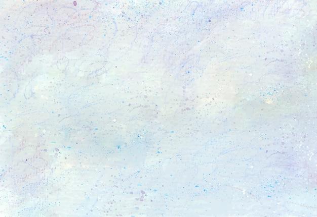 Lichtblauwe wolkentextuur gemaakt door acrylverf en kleurenpotlood