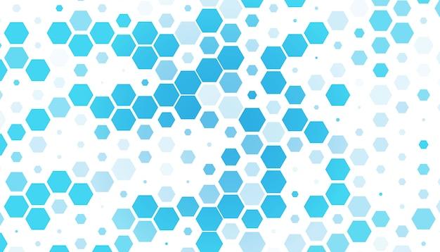Lichtblauwe zeshoek