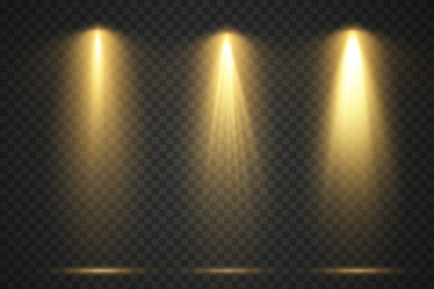 Lichtbronnen, concertverlichting, podiumprojectorset.