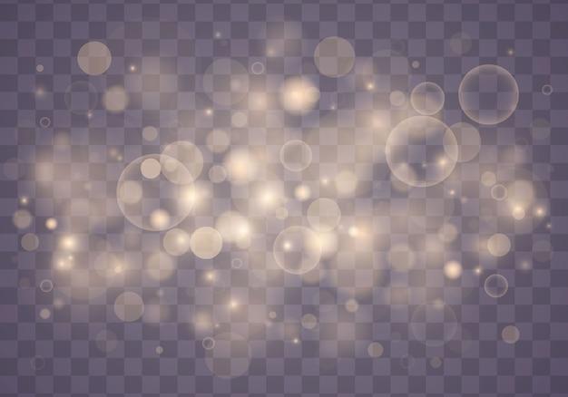Lichte abstracte gloeiende bokeh lichten. kerst concept.