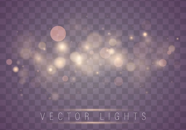 Lichte abstracte gloeiende bokeh lichten. kerstmis.