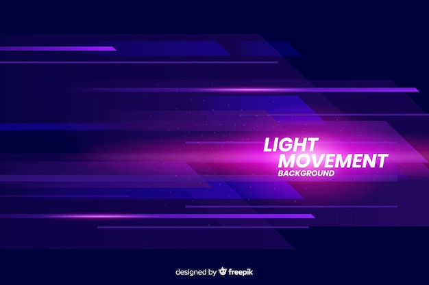 Lichte bewegingsachtergrond met abstracte vormen