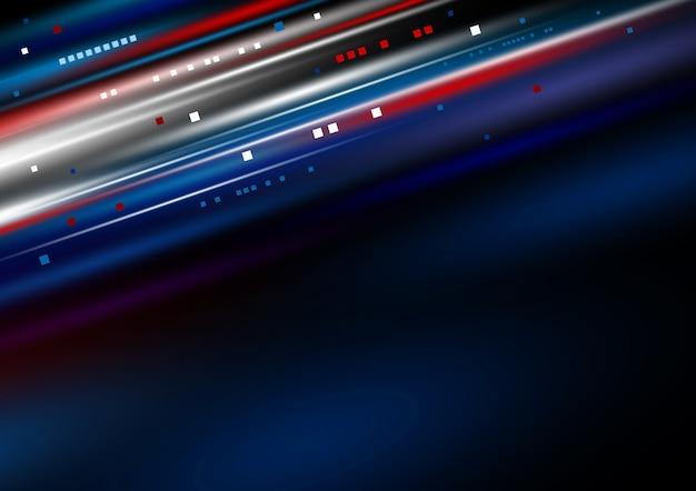 Lichte de motieachtergrond van de hoge snelheids digitale technologie