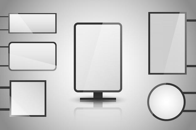Lichte dozen. verlichte lightbox met lege ruimte voor ontwerp.