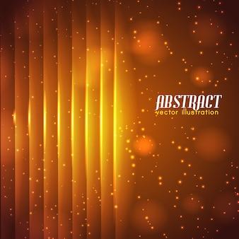 Lichte sprankelende abstracte achtergrond met lichtgevende verticale rechte lijnen en gloeiende effecten