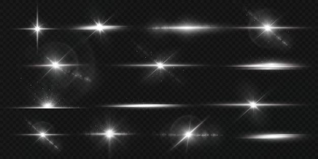 Lichte ster op transparante achtergrond
