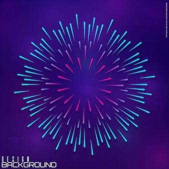 Lichte stralen van burst-achtergrond