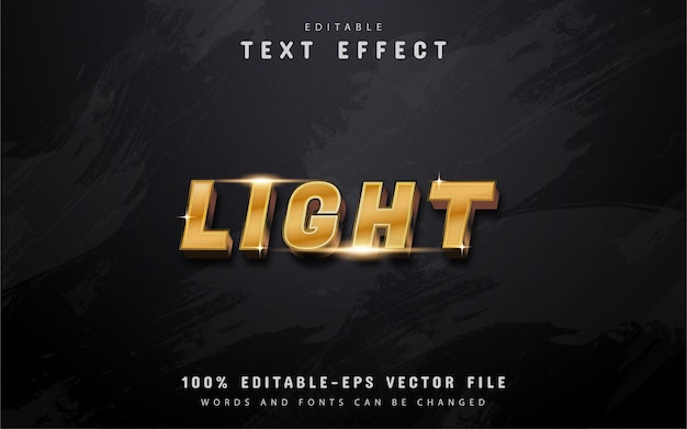 Lichte tekst - gouden verloopteksteffect