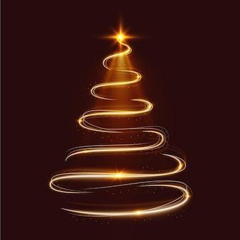 Lichte trail kerstboom illustratie