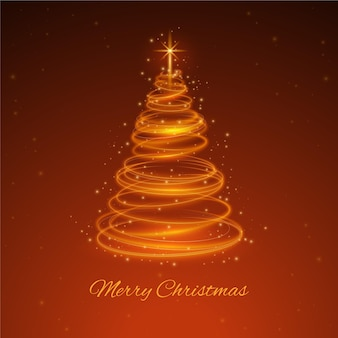 Lichte trail kerstboom