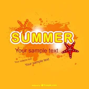 Lichte zomer vector achtergrond ontwerp