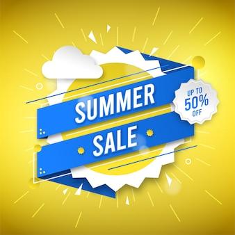 Lichte zomer verkoop ontwerp achtergrond