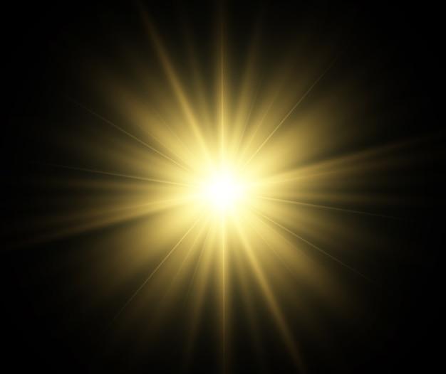 Lichteffect op een transparante achtergrond