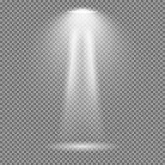 Lichteffect op transparante achtergrond. heldere lichten vectorinzameling