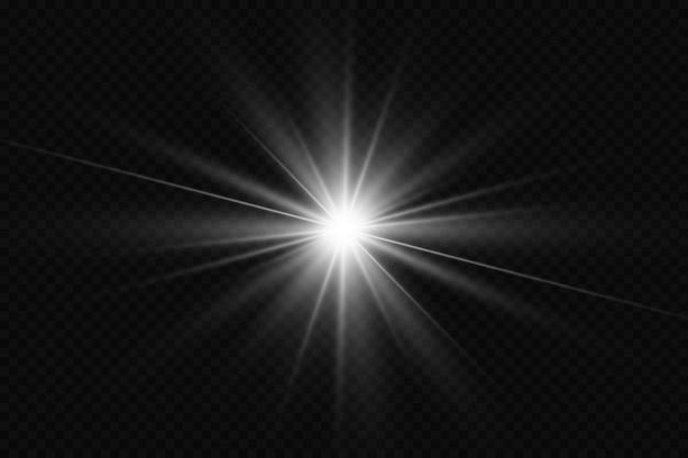 Lichteffect op transparante achtergrond