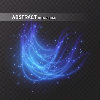 Lichteffectlijncirkel. gloeiend licht vuurring trace. glitter magic sparkle swirl trail effect op transparante achtergrond. licht glitter ronde golflijn