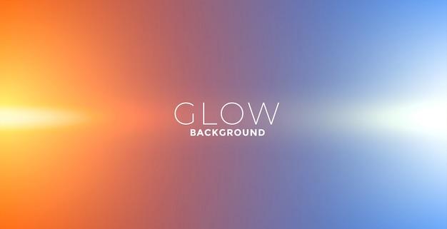 Lichten gloeien effect achtergrond in oranje en blauwe kleuren