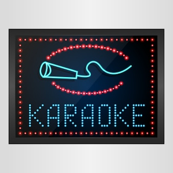 Lichtend led-paneelbanner karaoke-teken