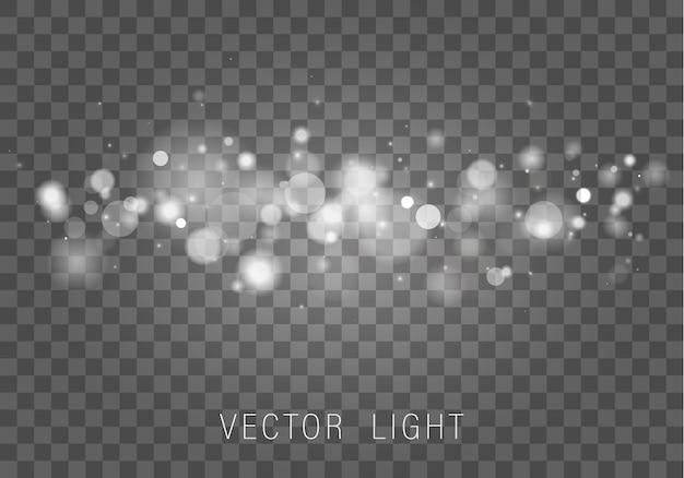 Lichtgevend bokeh-effect. sprankelende magische stofdeeltjes.