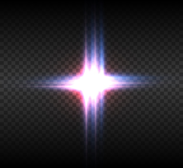 Lichtgevend effect geïsoleerd op transparante achtergrond