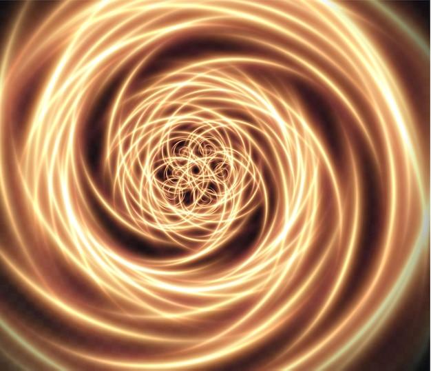 Lichtgevende abstracte spiraal gouden achtergrond