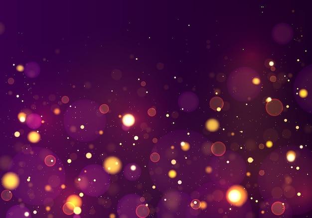 Lichtgevende achtergrond met kleurrijke lichten bokeh