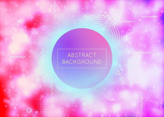 Lichtgevende achtergrond met vloeibare neonvormen. paarse vloeistof. fluorescerende hoes met bauhaus-verloop. grafische sjabloon voor plakkaat, presentatie, banner, brochure. lucent lichtgevende achtergrond.