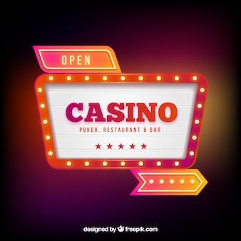 Lichtgevende casino poster achtergrond