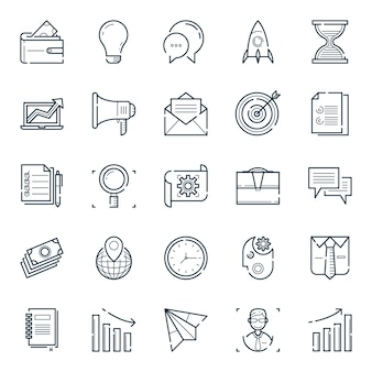 Lichtgewicht zakelijke icoonverzameling
