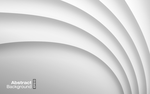 Lichtgrijze lichte kleur golvende achtergrond. visitekaartje modern patroon. papier grijze kromme schaduw textuur.