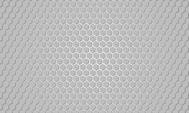 Lichtgrijze zeshoekige gestructureerde achtergrond.
