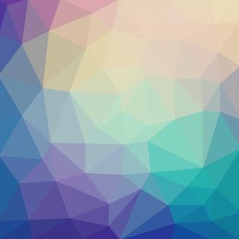 Lichtkoude vector lage polykristalachtergrond