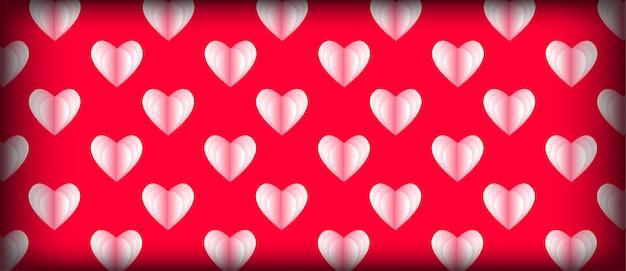 Lichtrose hartpatroon voor valentijnskaartdag