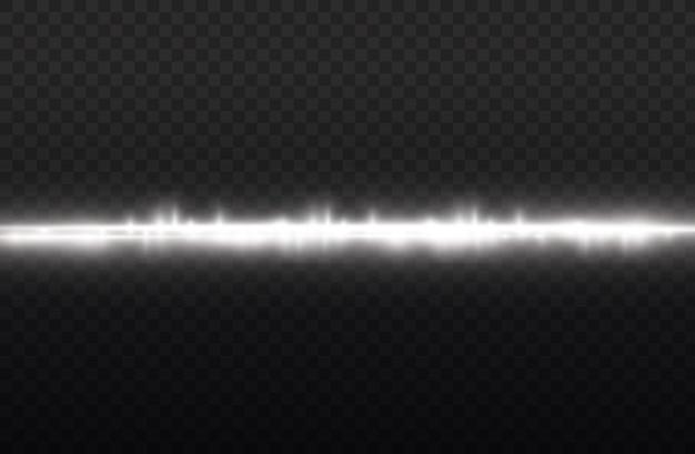 Lichtstralen flitsen witte horizontale lens flares pack laserstralen glow witte lijn mooie flare