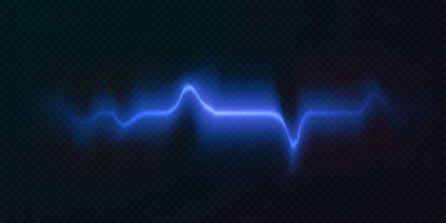 Lichtstralen in neon en blauw verlichte horizontale neonlaser