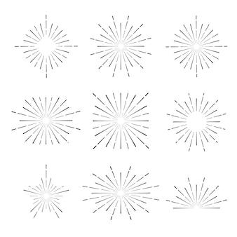 Lichtstralen van burst-collectie