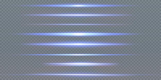Lichtstralen van licht in neon en blauw