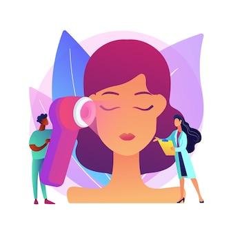 Lichttherapie abstract concept illustratie. gebrek aan zonlicht, kunstlichtapparatuur, seizoensgebonden depressiebehandeling, genezing van slapeloosheid, heliotherapiebox, geestelijke gezondheid.
