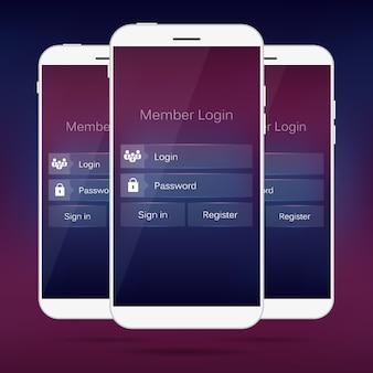 Lid login vorm mobiele webinterface.