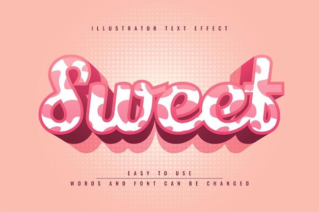 Lief bewerkbaar teksteffect ontwerp